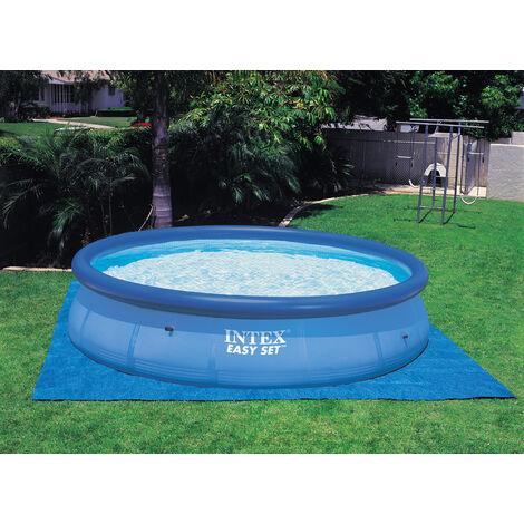 Protector de suelo para piscinas redondas de entre 2m44 y 4m57 - Azul