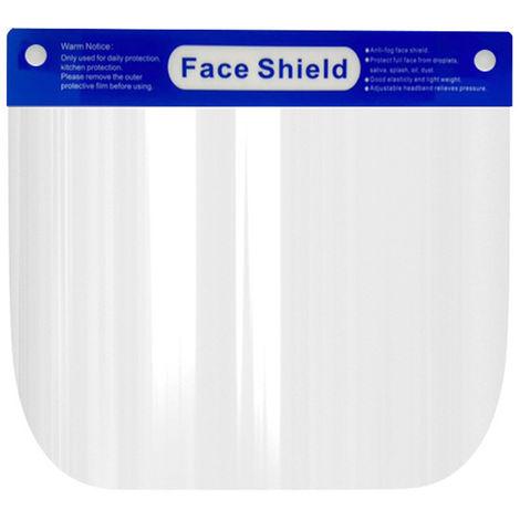 Protector facial completo, con banda elastica de pelicula transparente protectora