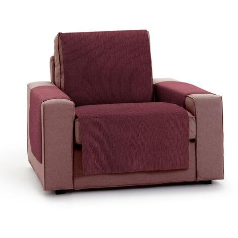 Protector Funda Sillon 1 Plaza o Relax. Chenilla Lisa. Diseño Elite. Color Rojo. 1 Plaza