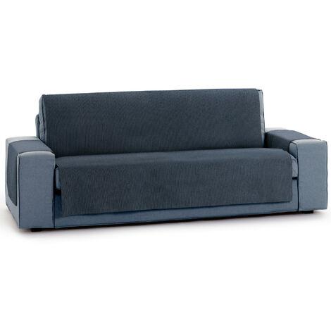 Protector Funda Sofa. Cubresofa. Chenilla Lisa. Diseño Elite. Color Azul. 3 Plazas