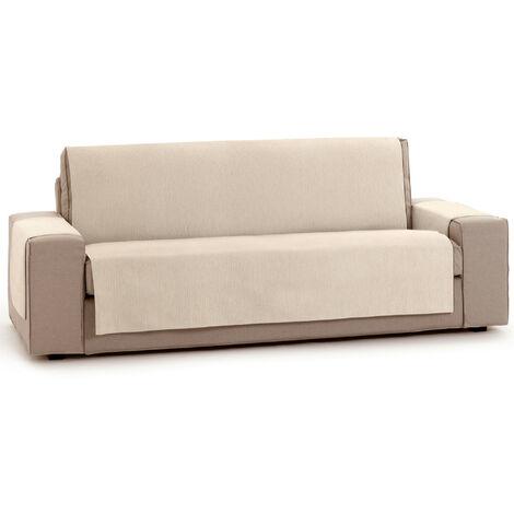 Protector Funda Sofa. Cubresofa. Chenilla Lisa. Diseño Elite. Color Marfil. 3 Plazas