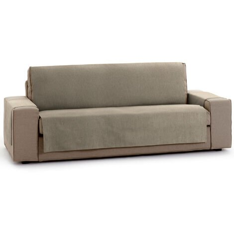 Protector Funda Sofa. Cubresofa. Chenilla Lisa. Diseño Elite. Color Vison. 2 Plazas