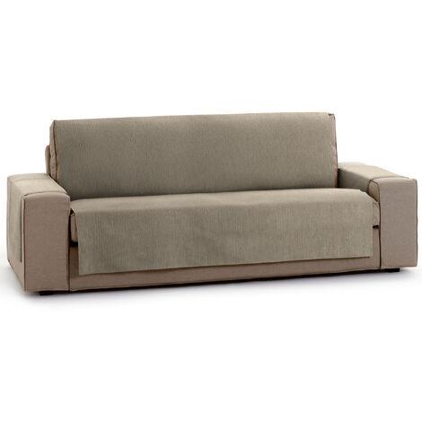 Protector Funda Sofa. Cubresofa. Chenilla Lisa. Diseño Elite. Color Vison. 3 Plazas