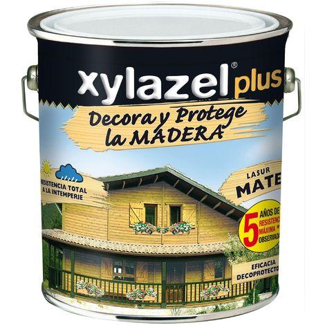 Protector Lasur Para Madera Mate Nogal 4lt Xylazel Plus