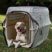 Protector solar malla de aluminio para transportines de perros,disponible en varias opciones