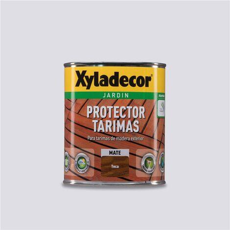 """main image of """"Protector Tarimas de madera Exterior Xyladecor Mate Teca 750ml"""""""
