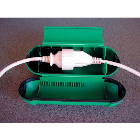 Protège câble étanche vert pour prolongateur jardin
