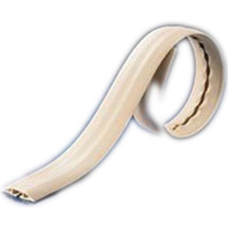 Protège câble RS PRO, diamètre interne: 22 x 11.6mm, longueur: 1m, largeur: 76,2 mm Blanc