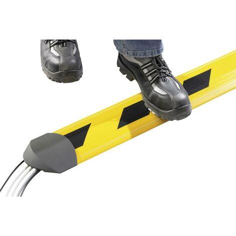 Protège-câbles Serpa 5 01002 1003 5.01002.1003 TPE (mélange de caoutchouc inodore) jaune, noir Nombre de canaux: 5 1500