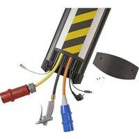 Protège-câbles TPE (mélange de caoutchouc inodore) noir, jaune Serpa B25 5.01005.9022 Nombre de canaux: 6 Longueur 1500 mm 1 pc(s)