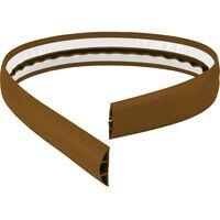 Protège-câbles TRU COMPONENTS 1570429 PVC marron Nombre de canaux: 1 1800 mm 1 pc(s)