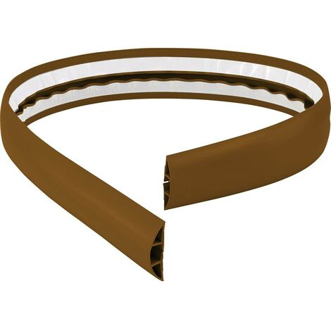 Protège-câbles TRU COMPONENTS 1570429 PVC marron Nombre de canaux: 1 1800 mm 1.8 m