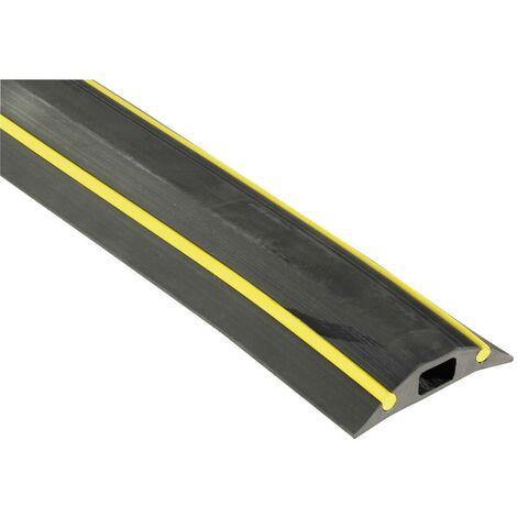 Protège-câbles Vulcascot VUS-017 VUS-017 caoutchouc noir Nombre de canaux: 1 3000 mm 1 pc(s)