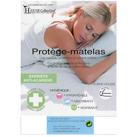Protège Matelas 140x200 Imperméable - anallergique - pour Matelas de 13 à 35 cm de Hauteur - Absorbant et Respirant - Barrière anti-Acariens