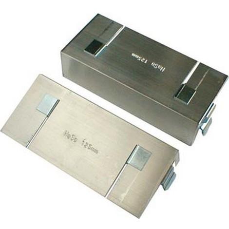 Protège-mors aluminium pour étau, avec ressort de fixation, Larg. : des mors : 125 mm