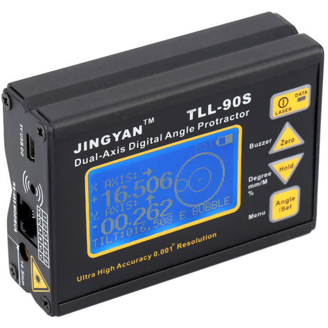 Protractor de angulo del inclinometro digital de nivel laser de doble eje,100-240V, 0.005