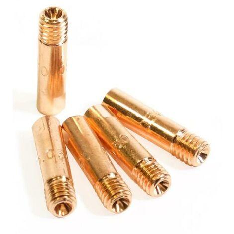 PROWELTEK 5 tubes contact pour torche MIG gaz no gaz Ø1 mm L : 25mm