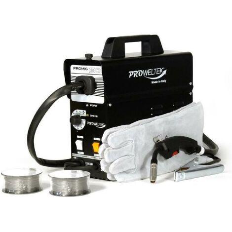 PROWELTEK Poste a souder PROMIG 130 - Livré avec 2 bobines de fil fourré Ø 0.9 mm et gant de soudeur anti-chaleur