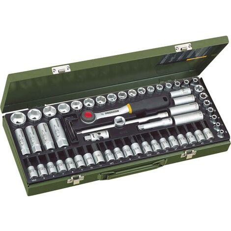 Proxxon Industrial Coffret clé + douilles métrique 3/8 (10 mm) 65 pièces 23112