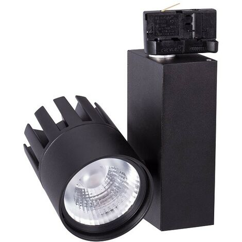 Proyector carril led 30W 940 2550Lm color negro