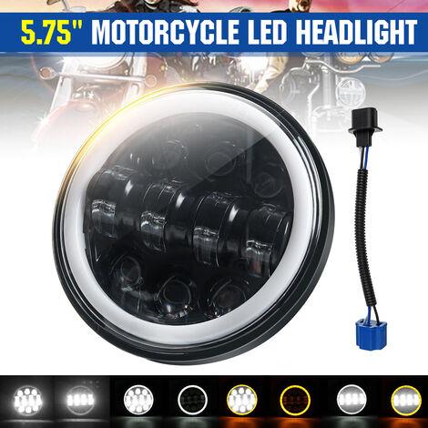 """Proyector de motocicleta de 5,75 """", faros LED sellados, bombillas de lámpara de halo de haz Hi-Lo para Jeep"""
