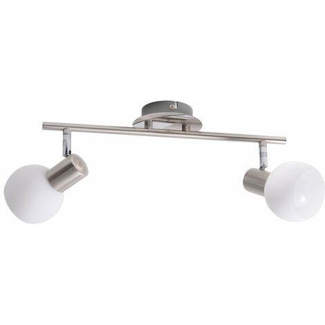 proyector del techo Foco orientable Lámpara de pasillo plata Brillante 15613/13