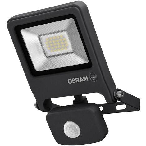 Proyector exterior Led con sensor de movimiento gris 20W 4000°K IP65 (Osram 4058075161856)