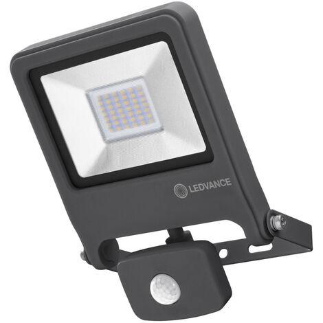 Proyector exterior Led con sensor de movimiento gris 50W 3000°K IP44 (Osram 4058075064362)