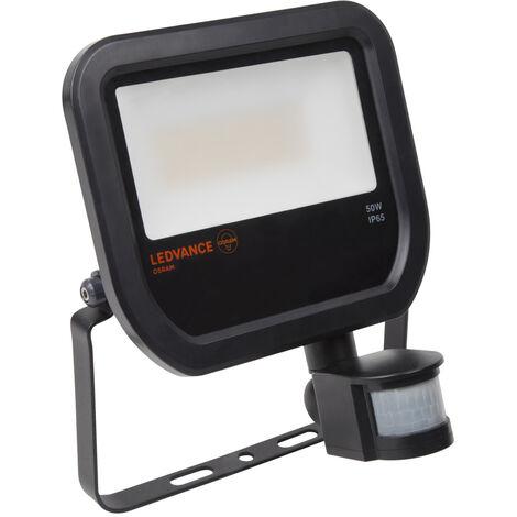 Proyector exterior Led con sensor de presencia y crepuscular 50W 4000°K IP65 (Ledvance 4058075814738)