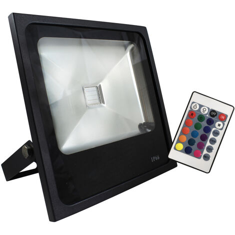 "main image of ""Proyector exterior Led RGB de aluminio con mando 50W RGB (Electro Dh 81.762/50/RGB)"""