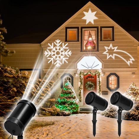 Proyector jardín 3 patrones decoración navidad iluminación exterior festivo LED
