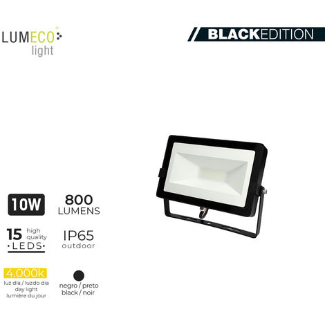 """Proyector led 10W 4000K 800Lm """"blacK edition"""" Lumeco"""