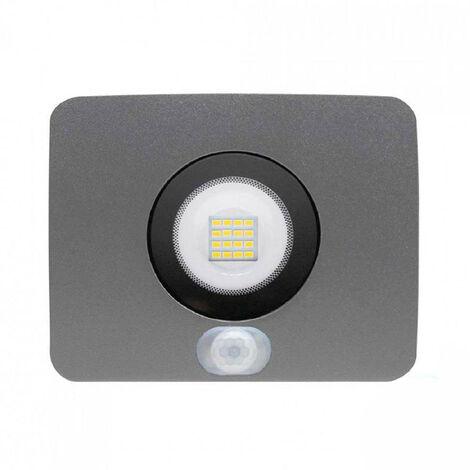 Proyector LED 10W Ultraslim de Exterior IP65 con Sensor Crepúscular y Movimiento Orientable Aluminio 4000K 7hSevenOn