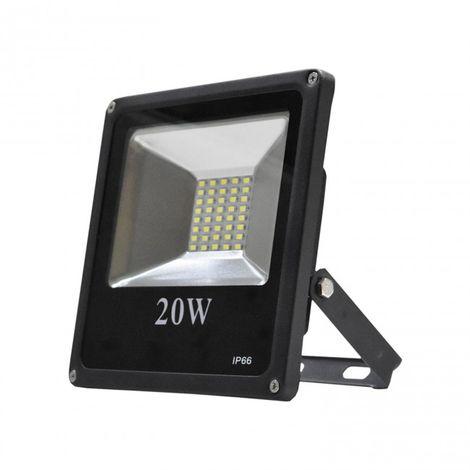 Proyector LED 20W 6000K Aluminio negro