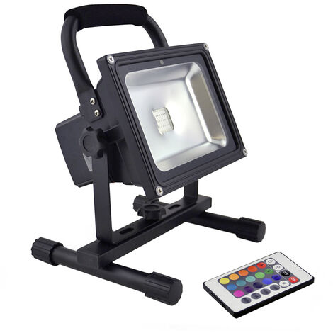 Proyector LED, 30W con batería recargable, RGB, RGB, regulable