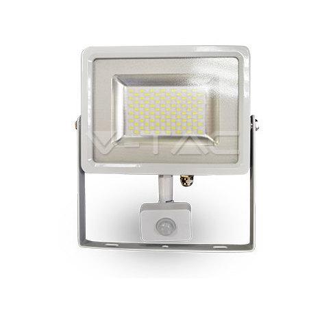 Proyector Led Blanco PIR Sensor Series IP44 30W V-TAC VT-4830-1 PIR 2400LM