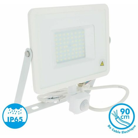 Proyector Led Blanco PIR Sensor Series IP44 50W V-TAC VT-4955 W PIR 4250LM