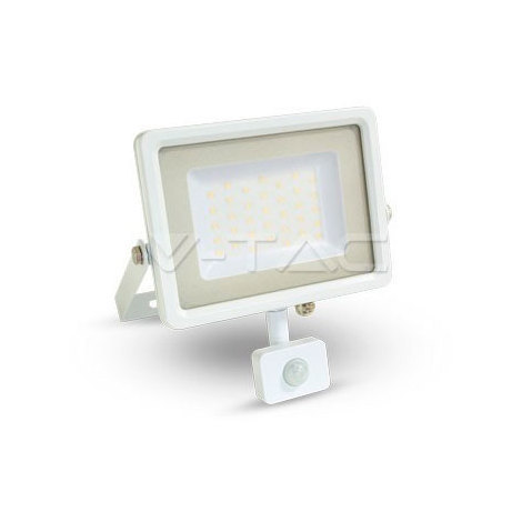 Proyector Led Blanco PIR Sensor Series IP54 50W V-TAC VT-4850-1 PIR 4000LM