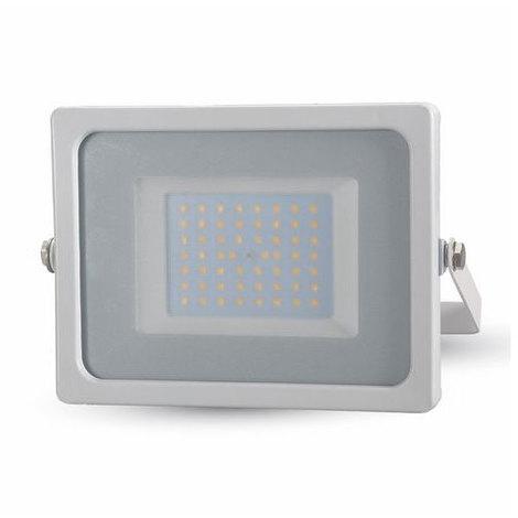 Proyector Led Blanco Premium SLIM IP65 50W V-TAC VT-4955 W 4250LM