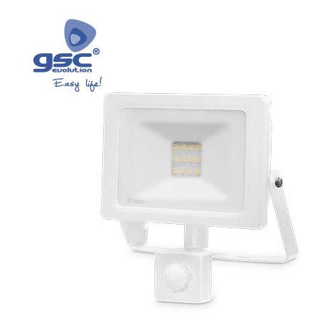 Proyector LED con sensor 10W 6000K IP65 Blanco
