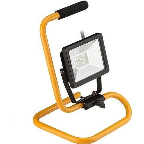 Proyector LED de exterior con base Negro 20W