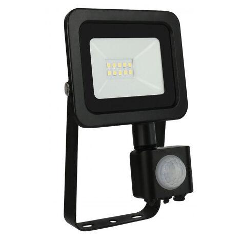 Proyector Led de exterior Noctis Lux negro con sensor 10W 6000°K IP44 (Spectrum SLI029037_CWCZUJNIK)