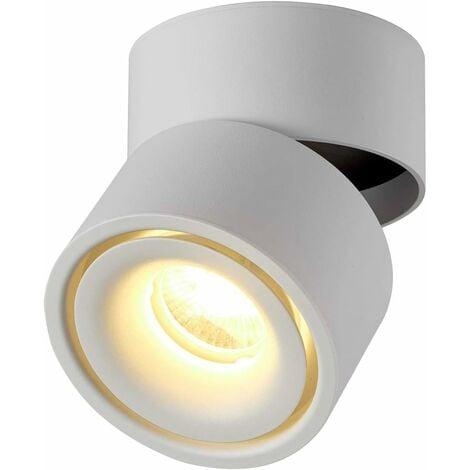 """main image of """"Proyector LED de interior 10W LITZEE, plafón ajustable giratorio 360 ° e iluminación de superficie COB LED 10x10cm / aplique de aluminio (blanco-3000K) [clase energética A +] [clase energética A +]"""""""