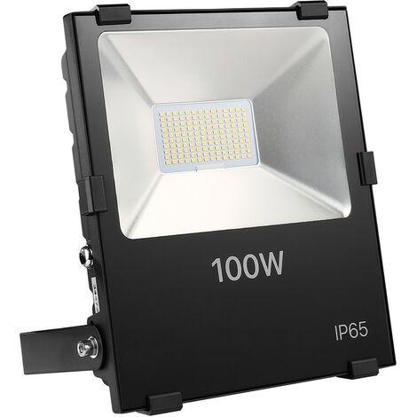 "main image of ""Proyector LED de interior/exterior blanco frío extra plano de 100W"""
