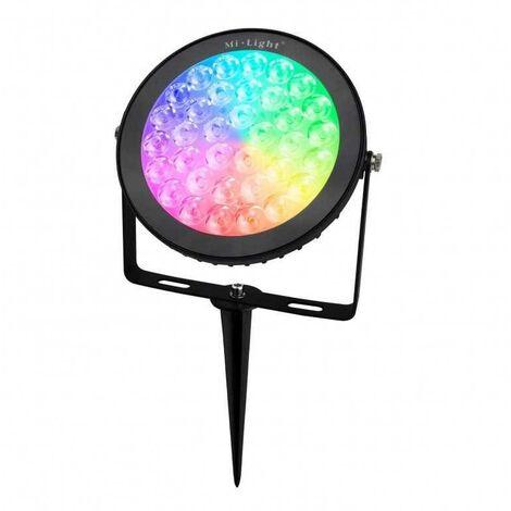 Proyector LED de jardín con pincho 15W RGB+CCT control RF/WiFi   Mi Light