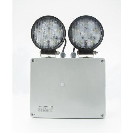 PROYECTOR LED EMERGENCIAS 2xFocos 18W LED 2000lm IP65
