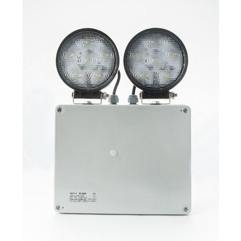 PROYECTOR LED EMERGENCIAS 3xFocos 18W LED 3800lm IP65