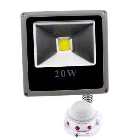 Proyector LED exterior con sensor de movimiento (20W)