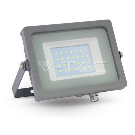 Proyector Led Gris Premium SLIM IP65 30W V-TAC VT-4933 G 2550LM