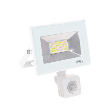 Proyector led Kolyma blanco con sensor 20W luz fría